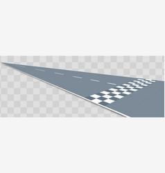 Realistic perspective racing road concept vector