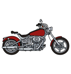 Red heavy chopper vector