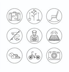 Retirement outline icon vector