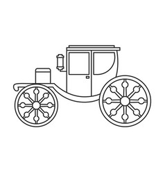 Retro brougham iconoutline line vector