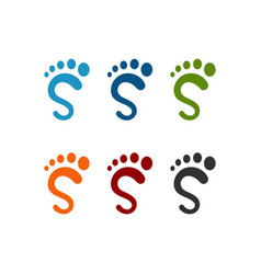 S foot logo template vector