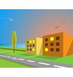 Seaview suburban street vector image