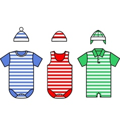 Set of the Baby clothes vector