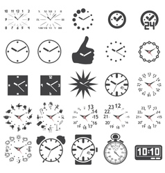 Set of watch icons vector image