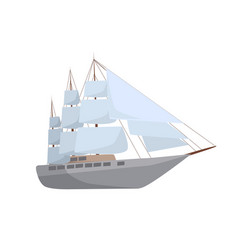 ship isolated vector image