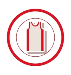 Sleeveless shirt clothes vector
