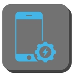 Smartphone Power Options Gear Rounded Square vector