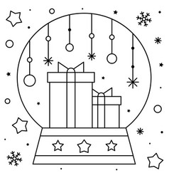 Coloring Pages Merry Christmas Snowman And Snowglobe Page Print ... | 250x238