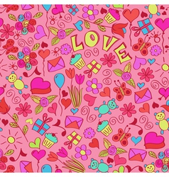 st valentines seamless pattern vector image