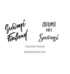 Suomi finland ndependence day on finnish vector