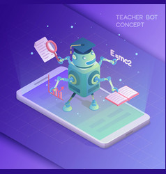 teacher bot concept vector image