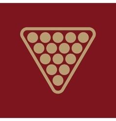 The billiard icon Billiards symbol Flat vector image