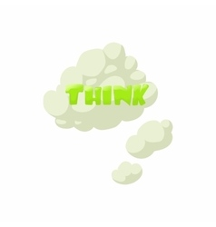 Thoughts icon cartoon style vector