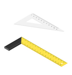 Try square ruler with plastic handle and triangle vector