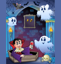 Wall alcove with halloween theme 5 vector
