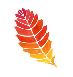 Watercolor style of leaf vector
