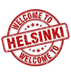 welcome to Helsinki vector image