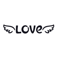 wings of love hand drawing valentine day vector image