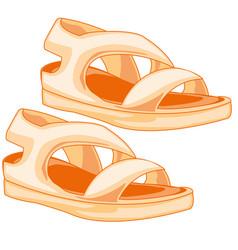 Year footwear sandals vector