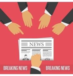 Breaking news concept vector image