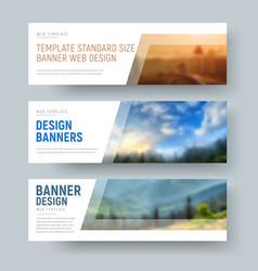 design of standard white horizontal web banners vector image