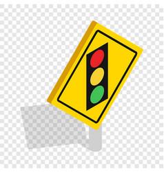 light traffic sign isometric icon vector image