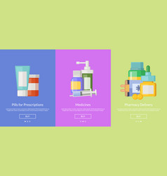 online pharmacy template for buying vector image vector image