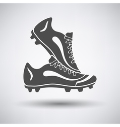 Soccer pair of boots vector image vector image