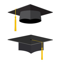 university academic graduation caps vector image