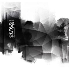 Abstract inkblot background vector image