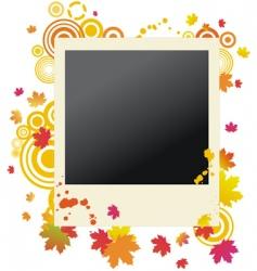 autumn grunge polaroid vector image