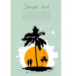 beach card vector image vector image