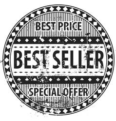 Best Seller Rubber Stamp grunge vector image