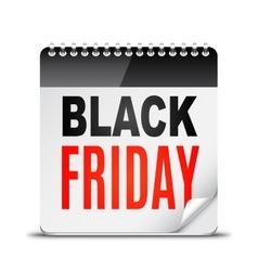 Black Friday Day Calendar vector image vector image