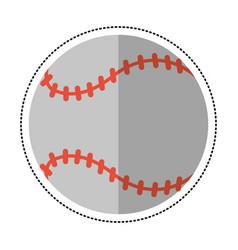 cartoon baseball ball sport game vector image
