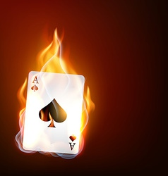 casino playing card vector image