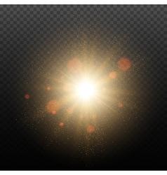 Golden glow light effect vector