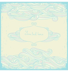 Greeting cards with swirls in a pastel colors vector image vector image