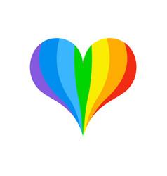Lgbt rainbow heart symbol of love fo sexual vector