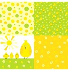 Chicken background set vector image
