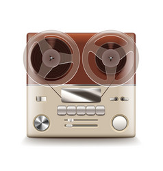 reel recorder isolated vector image