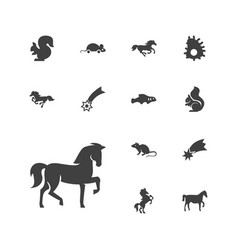 13 tail icons vector