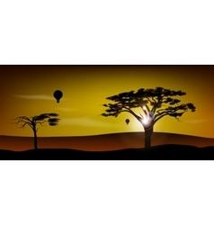 African desert safari vector