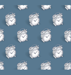 alarm clocks seamless background timer deadline vector image