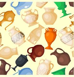 Amphora jar bottle amphoric ancient greek vector
