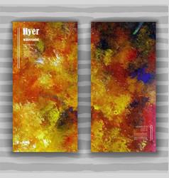 Autumn art flyer vector
