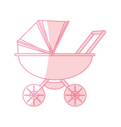 Baby carriage cartoon vector
