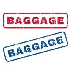 Baggage Rubber Stamps vector