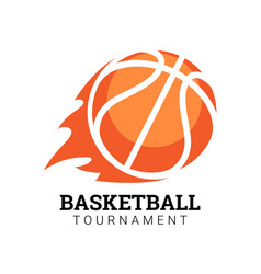 basketball tournament emblem vector image