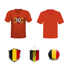 belgium national soccer team shirt in generic vector image